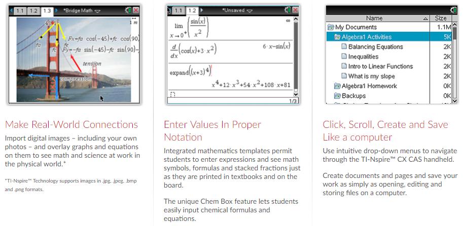 TI-Nspire CX CAS Handheld Graphing Calculator - Numerical