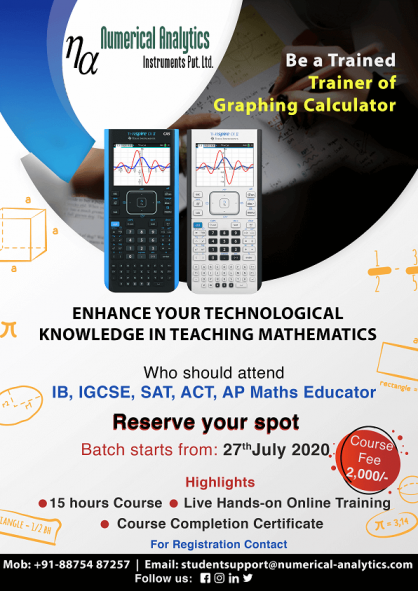 Be a Trained Trainer of Graphing Calculator